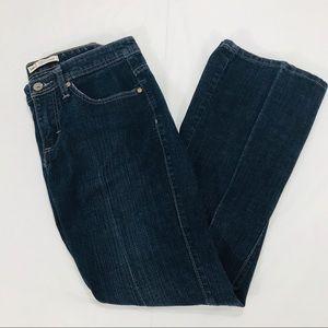 Lee Midrise Bootcut Jeans, Dark Blue, 8 Petite